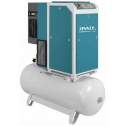 Compresseur à vis Renner sur réservoir avec sécheur intégré